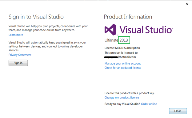 Visual Studio 2015 Feature Series : #1 Account Management | My