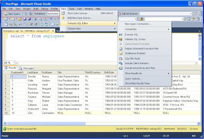 VS 2010 IDE integration with SQL 2008 T-SQL Editor | My